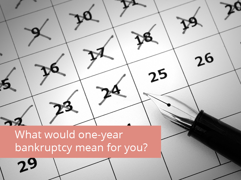 One-Year Bankruptcy: What would it mean?