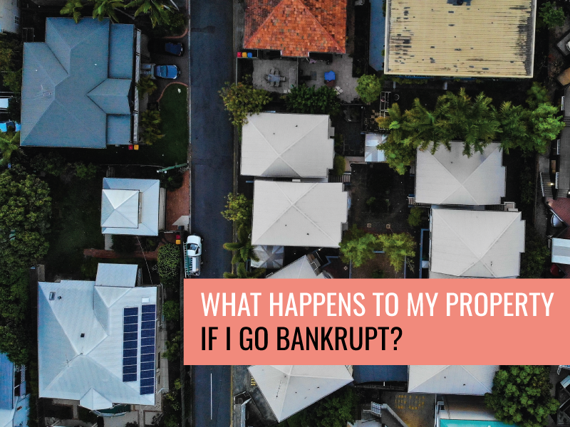 What happens to my house if I go bankrupt?