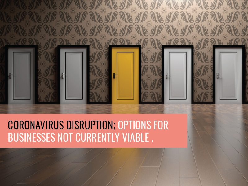 Covid-19 Disruption: Options for Businesses Which are Not Currently Viable