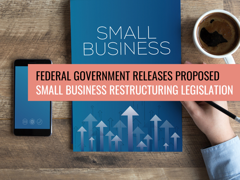 Federal Government Releases Proposed Small Business Restructuring Legislation