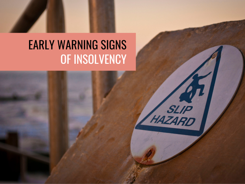 Early warning signs of insolvency
