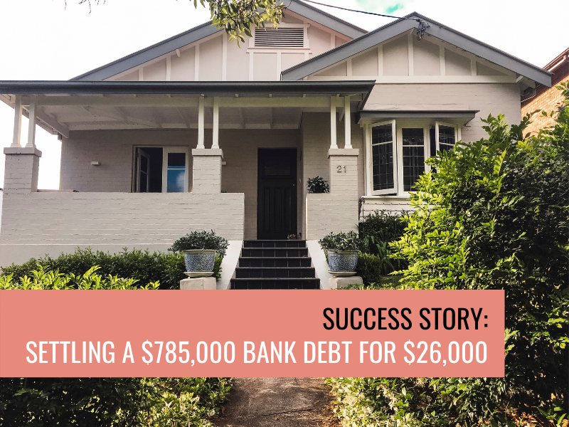Success Story: Settling a $785,000 bank debt for $26,000